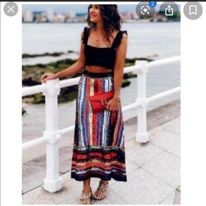 Zara limited edition multicoloured sequin skirt
